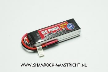 Red Power Lipo Accu Red Power 11.1V 2200mAh 25C - XH